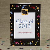 Personalized Graduation Greeting Cards - Let's Celebrate - 8338