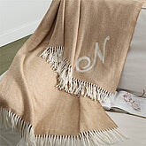 Embroidered Herringbone Afghan Throw Blanket - Soft Sensations - 8340