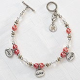 Live, Love, Laugh Personalized Charm Bracelet