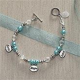 Personalized Charm Bracelets - Faith, Hope, Love - 8355
