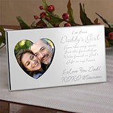 Personalized Silver Heart Frames - Daddy's Girl Verse - 8388