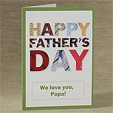 Personalized Father's Day Greeting Cards - Ties - 8393