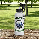 Golf Earth!© Personalized Water Bottle