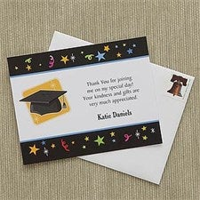 Personalized Graduation Thank You Notes - Let's Celebrate - 8398