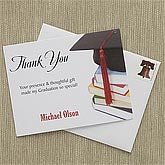 Personalized Graduation Party Thank You Cards - With Honors - 8403
