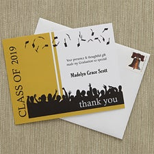 Personalized Graduation Thank You Cards - Hats Are Off - 8405