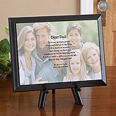 Personalized Photo Poetry Plaque for Fathers - 8433