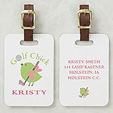 Personalized Golf Bag Tag for Women - Golf Chick - 8438