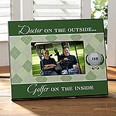 Golfer on the Inside© Personalized Frame