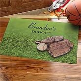 Baseball Field© Personalized Doormat