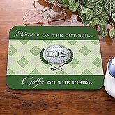 Personalized Golf Mouse Pads - Golfer On The Inside - 8453
