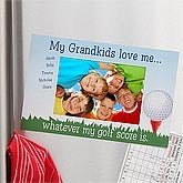 Personalized Golf Photo Frame Magnet - Whatever My Score - 8465