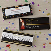 Personalized Graduation Party Candy Bar Wrappers - Way To Go Grad - 8481