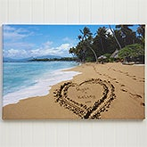 Personalized Canvas Art - Sandy Beach Tropical Island Design - 8493