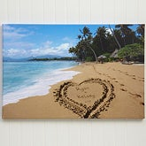 Personalized Canvas Art - Sandy Beach Tropical Island - 8493