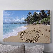 Personalized Canvas Art - Sandy Beach Tropical Island - 8493