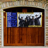 Personalized Graduation Party Photo Banner - With Great Pride - 8497