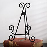Elegant Black Scroll Metal Display Easel - 8520