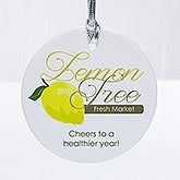 Personalized 1-Sided Custom Logo Round Ornament - 8530