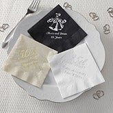 Personalized Party Napkins - Anniversary - 8574