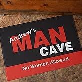 Man Cave Personalized Doormat - 8576