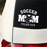 Sports Mom© Personalized Window Decals