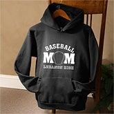 Sports Mom© Personalized Black Sweatshirt