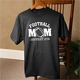 Sports Mom© Personalized Black T-Shirt