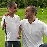 Personalized Golf Polo T-Shirts - Father & Son Apparel - 8610