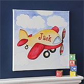 Personalized Kids Canvas Art - Airplane - 8630