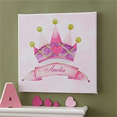 Personalized Kids Canvas Art - Princess Crown - 8632