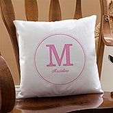 Personalized Linen Keepsake Pillow - Monogram - 8634