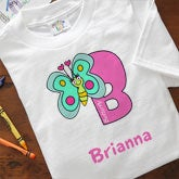 Personalized Girls Clothing - Alphabet Animals - 8635