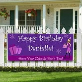 Personalized Birthday Party Banners - Birthday Girl - 8638
