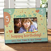 Personalized Birthday Picture Frame - Birthday Hearts - 8642