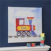 Personalized Train Canvas Art for Kids - 8663