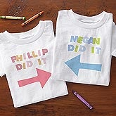 Personalized Baby Clothes for Twins - They Did It - 8683