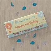 Birthday Party Personalized Candy Bar Wrappers - 8711