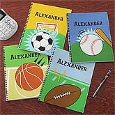 Personalized Sports Notebooks for Boys - Set of Two - 8714