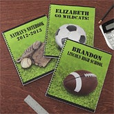 Boys Personalized Sports Notebooks - Set of Two - 8715