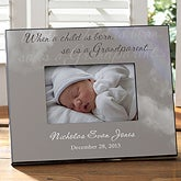 Personalized Grandparent Picture Frames - Grandparent Is Born - 8720