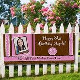 Personalized Photo Birthday Party Banner - Birthday Fun - 8724