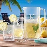 Personalized Outdoor Drinkware Set - Pitcher & Drinking Glasses - 8727