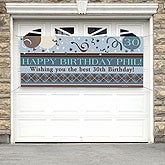 Personalized Happy Birthday Banners - Argyle Design - 8734-BBB
