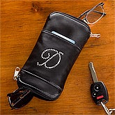Personalized Glasses and Sunglasses Case - Leather - 8735