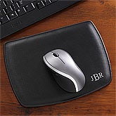 Personalized Leather Mouse Pad - Black - 8743