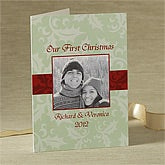 Our First Christmas Personalized Photo Christmas Cards - 8757