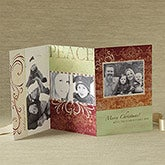 Peace Personalized Photo Christmas Cards - 3 Panel - 8759