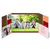 Personalized Photo Christmas Cards - Family & Friends Gatefold - 8761