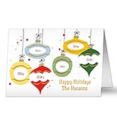 Ornaments With Names Personalized Christmas Cards - 8766
